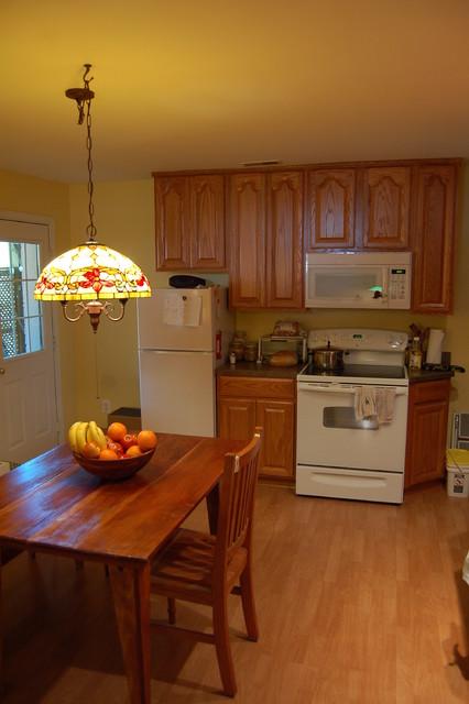 Basement Apartment traditional-kitchen