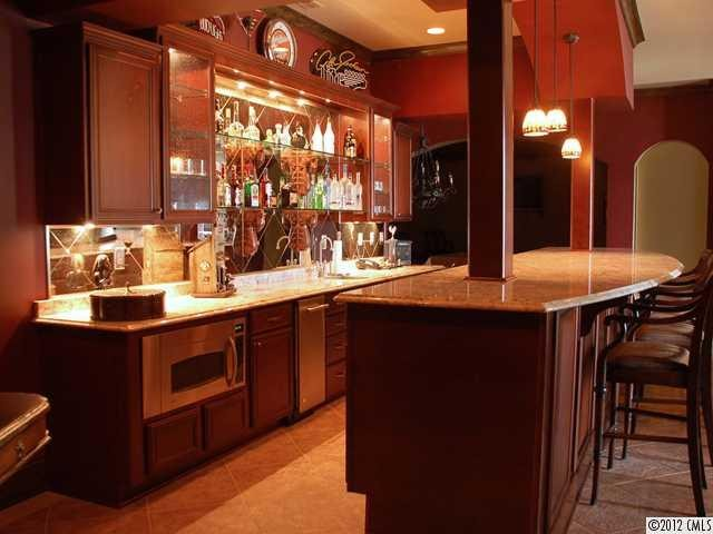 Basement bar traditional kitchen charlotte for Basement kitchenette with bar