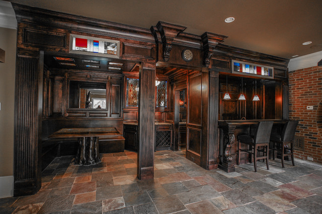 Basement bar queens gate traditional kitchen atlanta - Basement kitchen and bar ideas ...