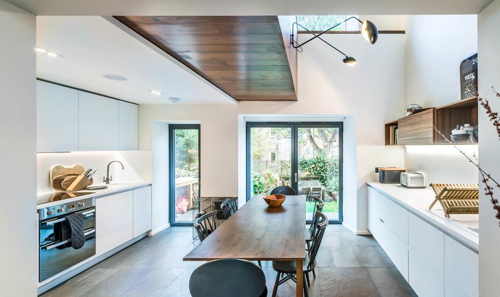 Basement Conversion In Willowbrae Edinburgh Modern Kitchen Edinburgh By Fernandes Binns Architects