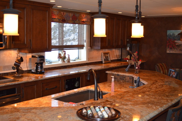 Basement Kitchen Traditional Kitchen Omaha By GW Custom Cabinets And