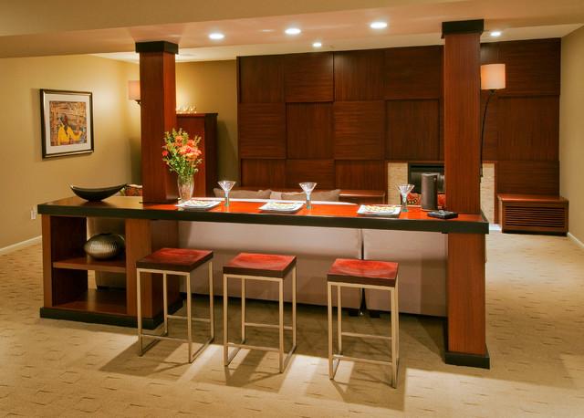 Basement remodel contemporary-kitchen