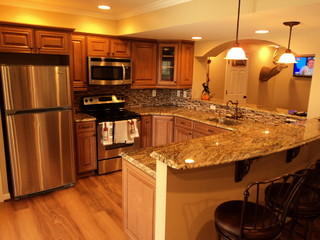 Basement Renovation in Owings Mills, MD - Traditional - Kitchen - baltimore - by Design Build ...