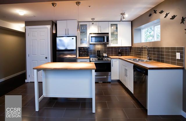 Basement suite renovation kitchen by ccsr interior for Basement suite plans