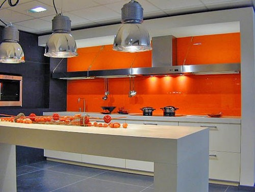 modern kitchen Color of the Month: Decorating with Orange
