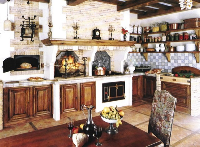 Bavarian cottage traditional kitchen other metro for Old world style kitchen
