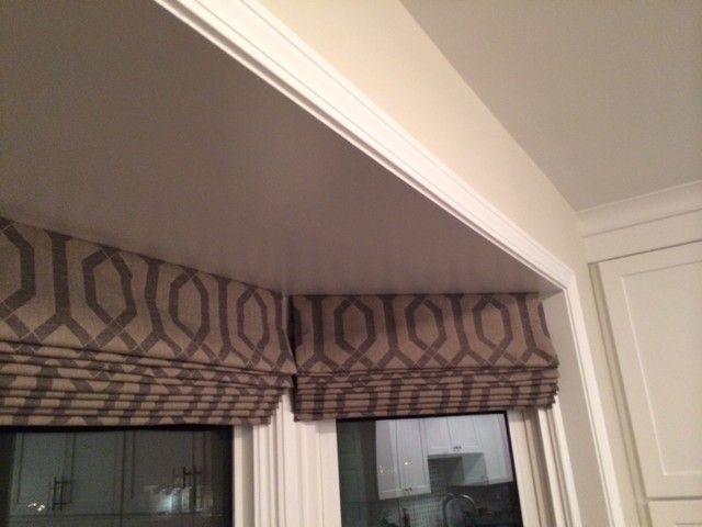Bay Window Roman Shades Traditional