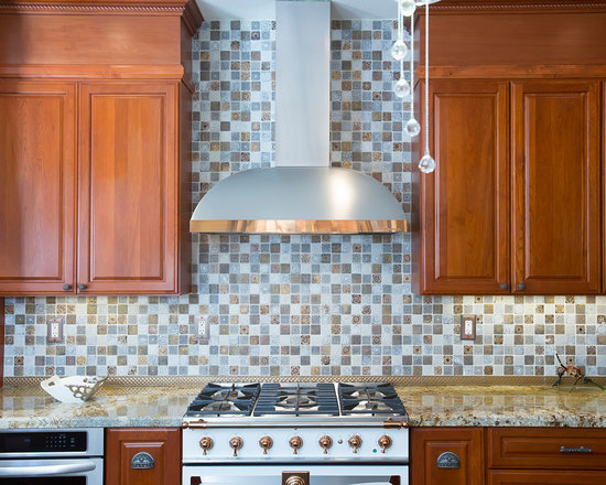 Photos with Dark Wood Cabinets, Distressed Cabinets and Slate Floors