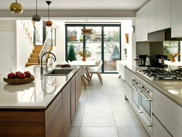 Bayswater Family Home Contemporary Kitchen London