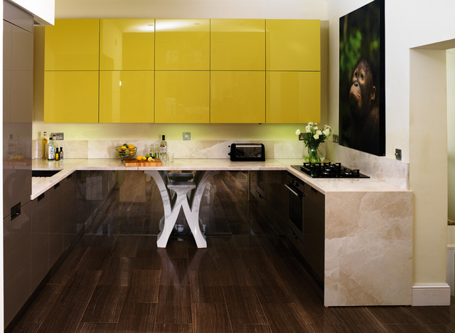 Bayswater Flat contemporary-kitchen