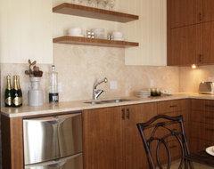 Beach Condo Renovation tropical-kitchen