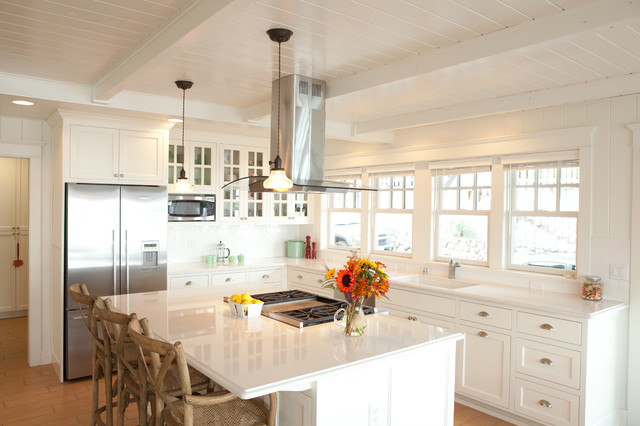 Beach cottage kitchen long hairstyles for Beach inspired kitchen designs
