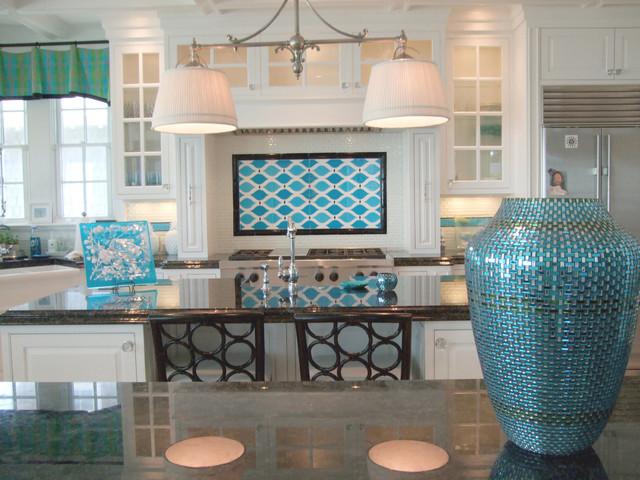 Beach Home Backsplash modern-kitchen