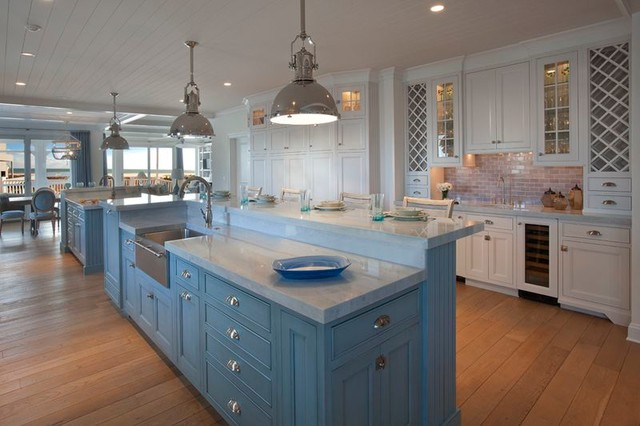 Beach house beach style kitchen other metro by for Beach house kitchen plans