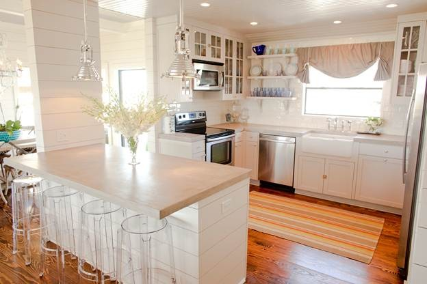 Beach House contemporary kitchen