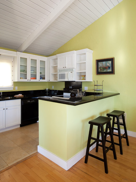 above garage bonus room ideas - Beach House Mother in Law Suite Kitchen Transitional