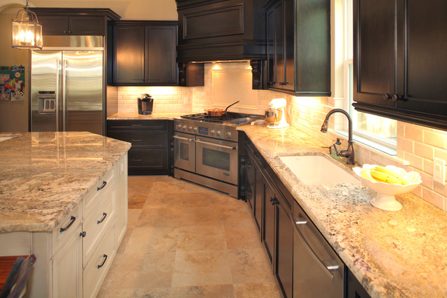 Beach Park Custom Home traditional-kitchen