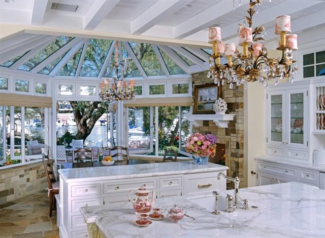 Beach side Cottage beach-style-kitchen