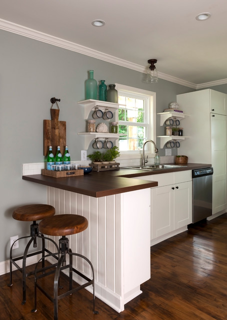 Lake house beach style kitchen charlotte by loftus design llc Kitchen design lake house