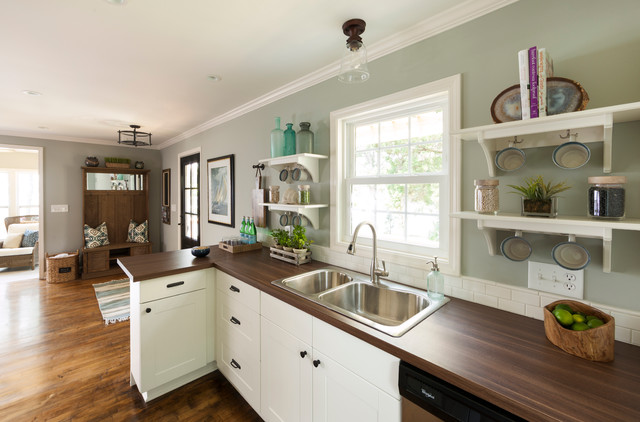 Lake house beach style kitchen charlotte by loftus for Lake house kitchen designs
