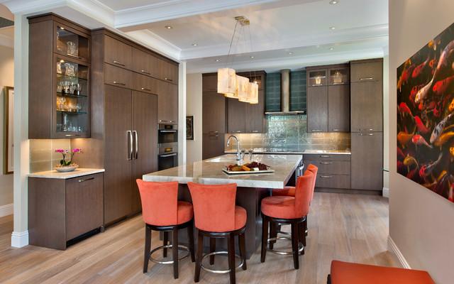 Beach Villa Contemporary Kitchen Miami By Little Palm Design Group