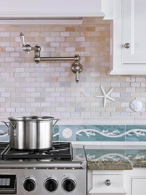 Beachy Backsplash - Contemporary - Kitchen - los angeles - by OTM Designs & Remodeling Inc.
