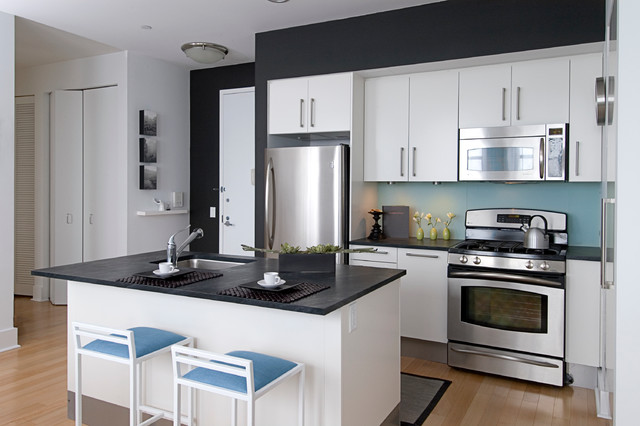 Wonderful Beacon One Bedroom Residence Contemporary Kitchen