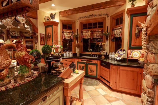 Bear Hills Home Draper rustic-kitchen