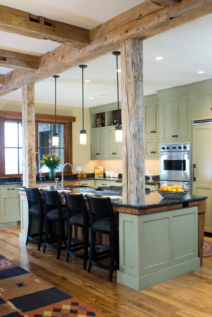 eclectic kitchen by Montana Reclaimed Lumber Co.