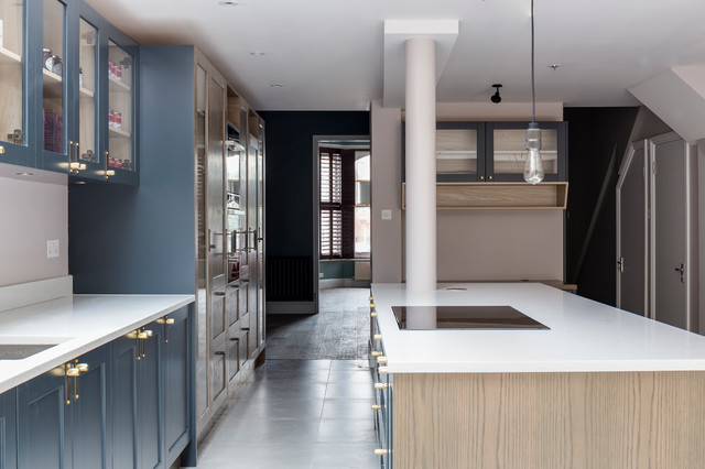 Beauchamp Road Kitchen Traditional Kitchen London By London Joinery Company Green