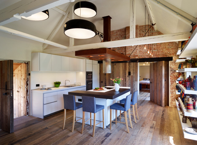 Beautiful Barn Conversion With Bulthaup B1 Industrial Kitchen