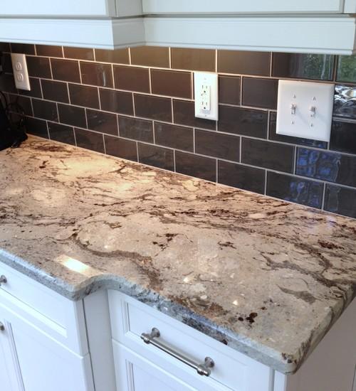 Glacier White granite countertops