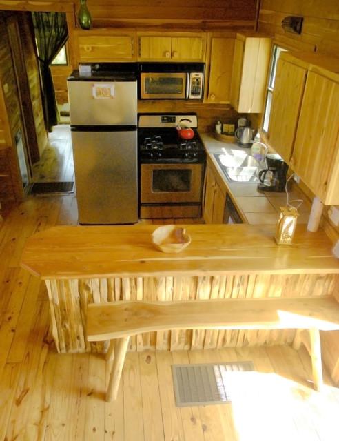 Beautiful Cedar Cabin eclectic-kitchen