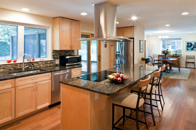 Beautiful Contemporary Accessible Kitchen - Contemporary ... on Light Maple Kitchen Cabinets With Granite Countertops  id=72554