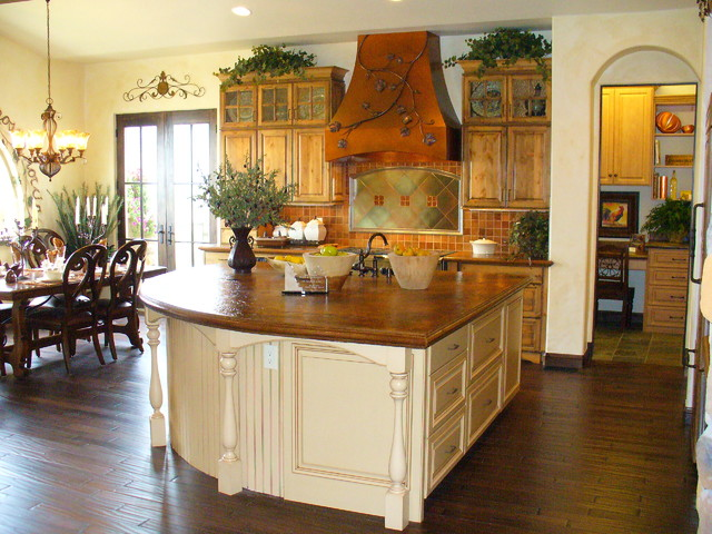 Beautiful country kitchen with whimsical accents rustic for Traditional rustic kitchen