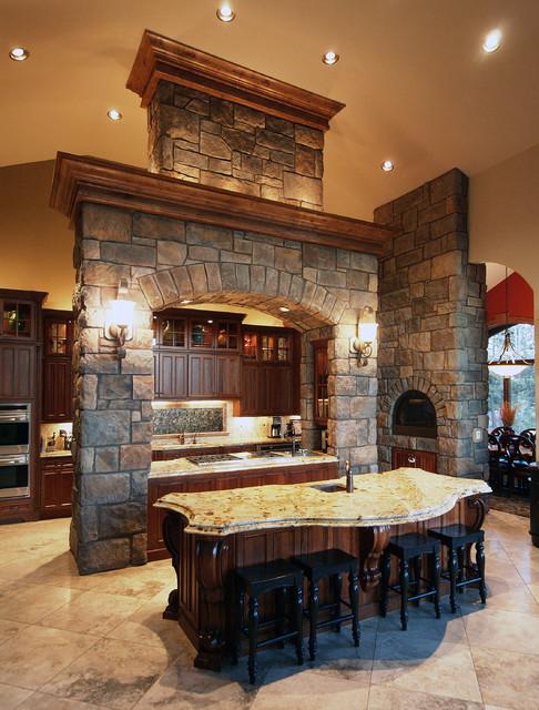 Beautiful English Rubble Kitchen - Coronado Stone Veneer - Mediterranean - Kitchen - denver - by ...