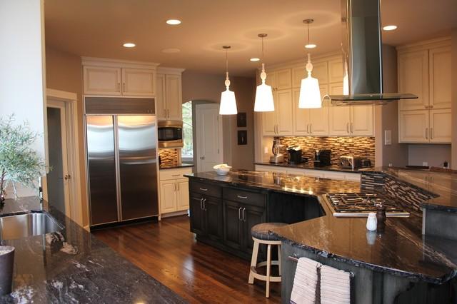 Beautiful Granite & Custom Cabinetry traditional-kitchen