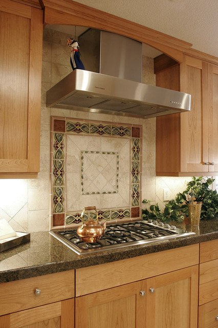 Beautiful kitchen tile backsplash traditional kitchen portland by kirstin havnaer - Traditional kitchen tile backsplash ideas ...