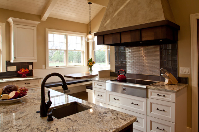 Beautiful kitchen with built in booth kitchen other for Beautiful built in kitchens