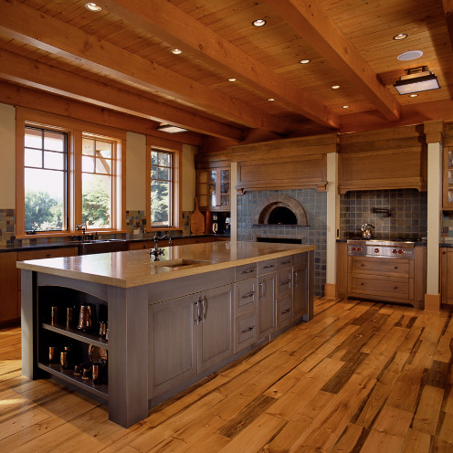 ... Wood Burning Oven - Traditional - Kitchen - other metro - by Key Tile