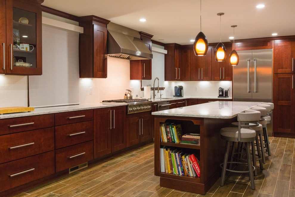 Beautiful New Kitchen In Taunton Ma Eclectic Kitchen Providence By American Wallpaper Design