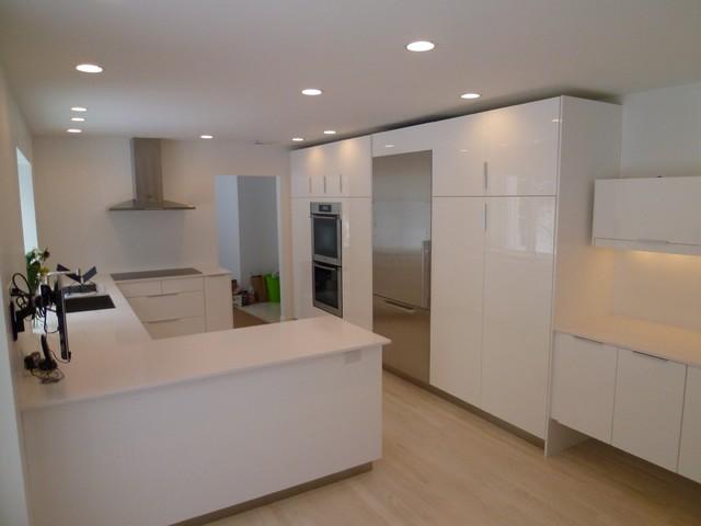 Beautiful White Kitchen Modern Kitchen Boston By Ikitchens Etc Llc