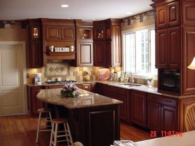 Beautiful woodwork custom kitchen with dark stain kitchen for Beautiful dark kitchens
