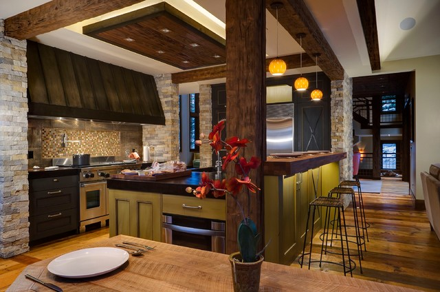 Beaver Creek Contemporary Rustic Kitchen Denver By