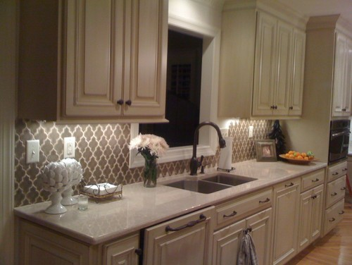 Isthis Backsplash Too Busy For New Venetian Gold Granite