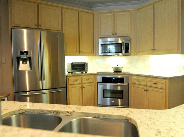 before and after traditional kitchen other metro