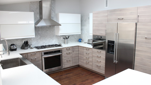 Before After Ikea Kitchen Remodel Los Alamitos Ca Contemporary Kitchen