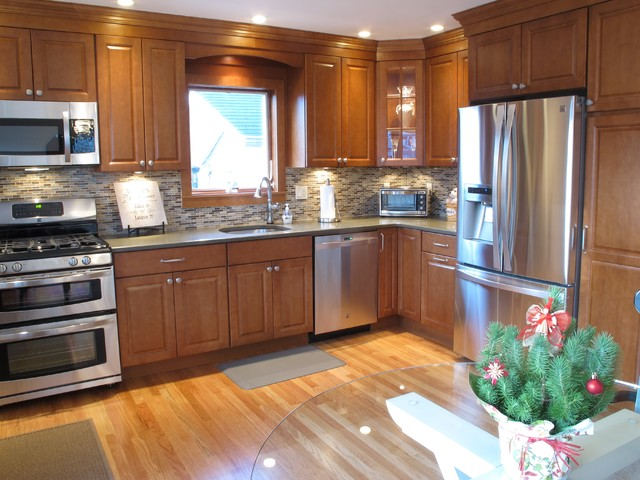Before and after kitchen remodeling traditional for Bj kitchen cabinets