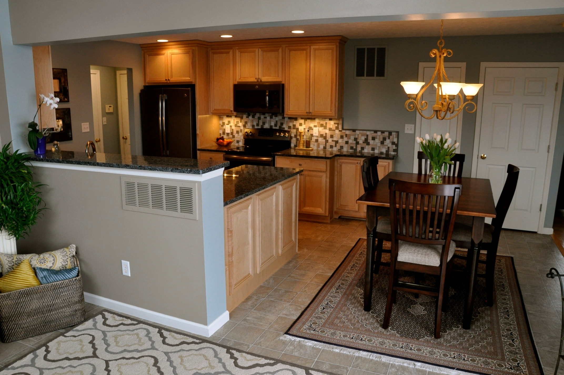 Before and After Medium Size Kitchen