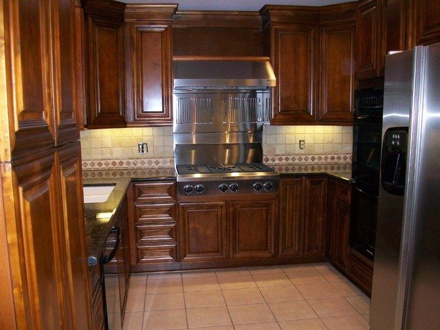 Before And After Of Small Kitchen Traditional Kitchen